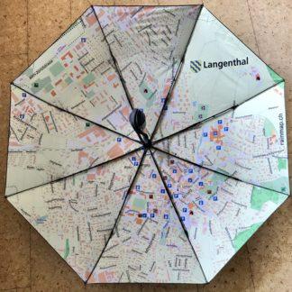 Taschenschirm mit Stadtplan Langenthal